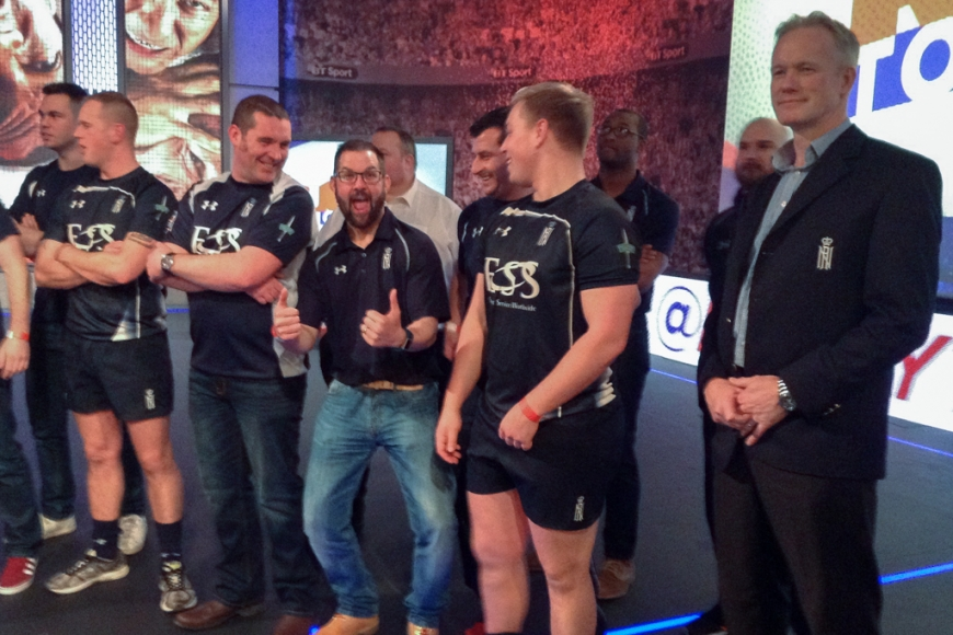 Royal Navy Rugby Union Members Take Centre Stage : Royal