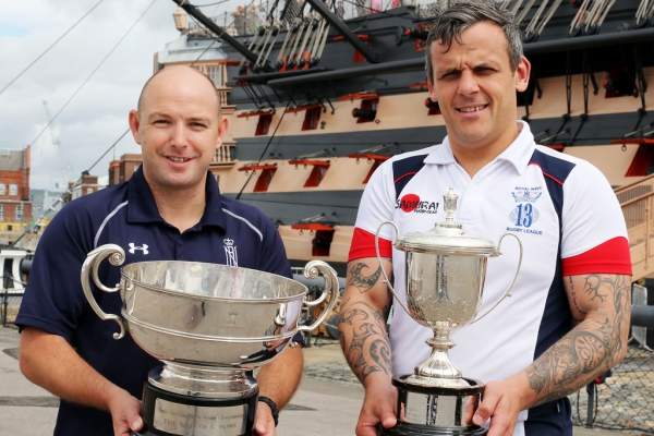Head Coaches celebrate Navy Rugby Double Inter Service Victory