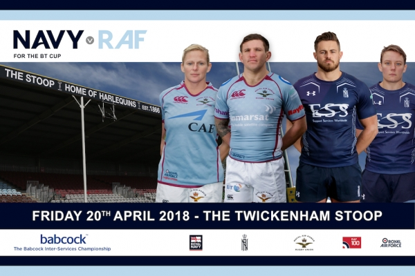Navy v RAF to take place at The Twickenham Stoop in 2018!