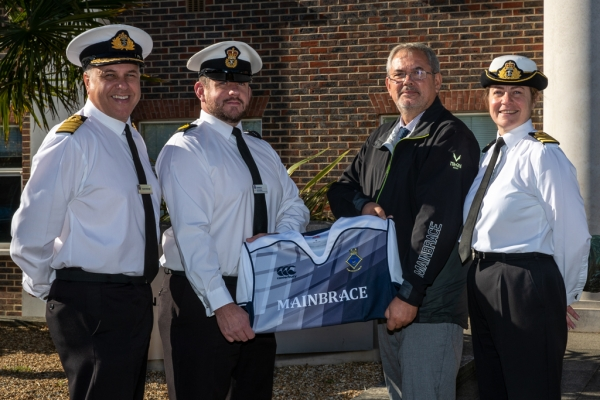 Mainbrace Marine support Portsmouth Naval Base Rugby Team