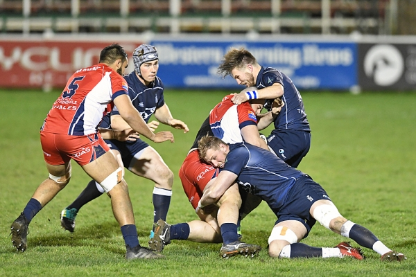 The Navy beat Marine Nationale in Plymouth