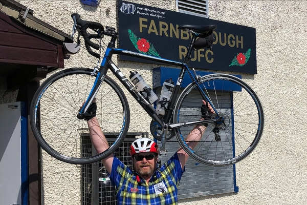 'On Yer Bike Ref!' – Referee's Fundraiser Finally Completed