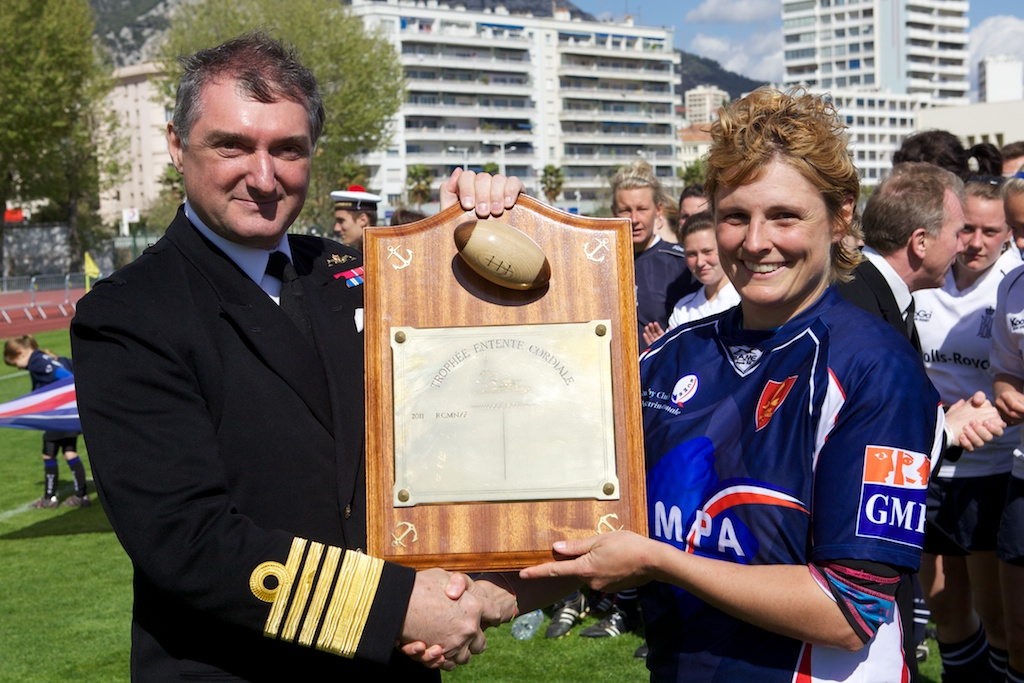The Royal Navy Women will also be in Toulon for a return visit.  The Marine Nationale (F) lead the series 3 - 0