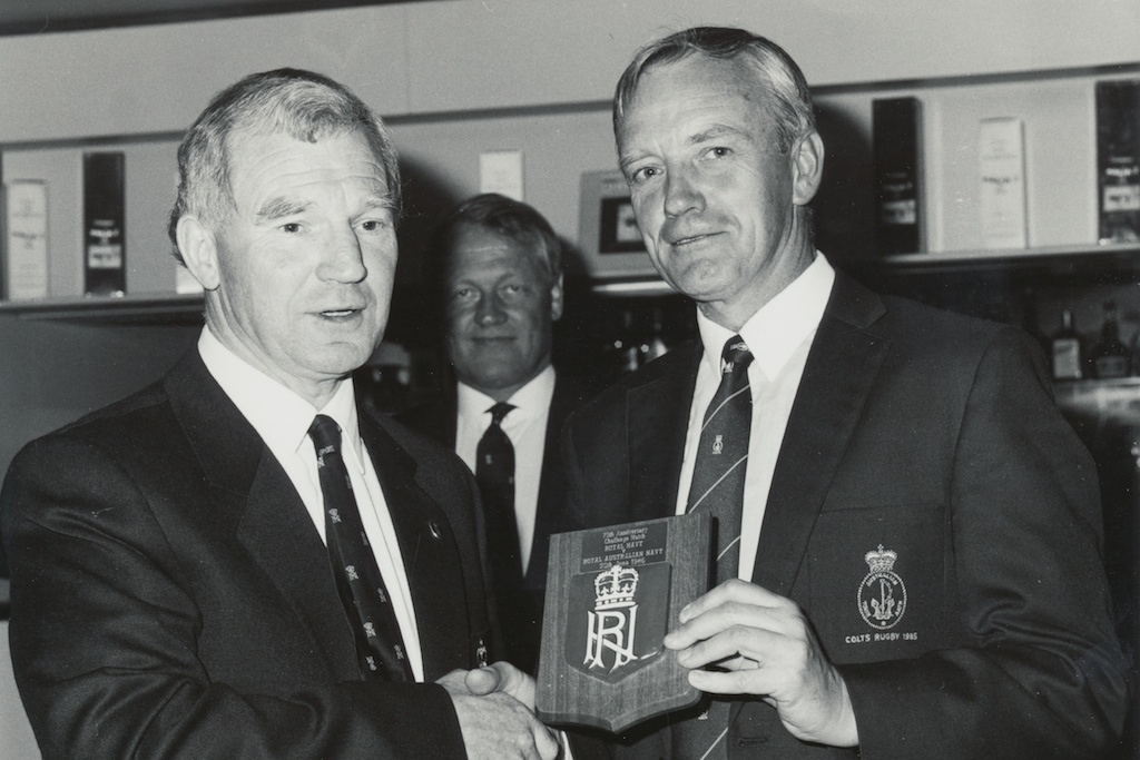 Mike Pearey (left), one of many excellent administrators for the RNRU