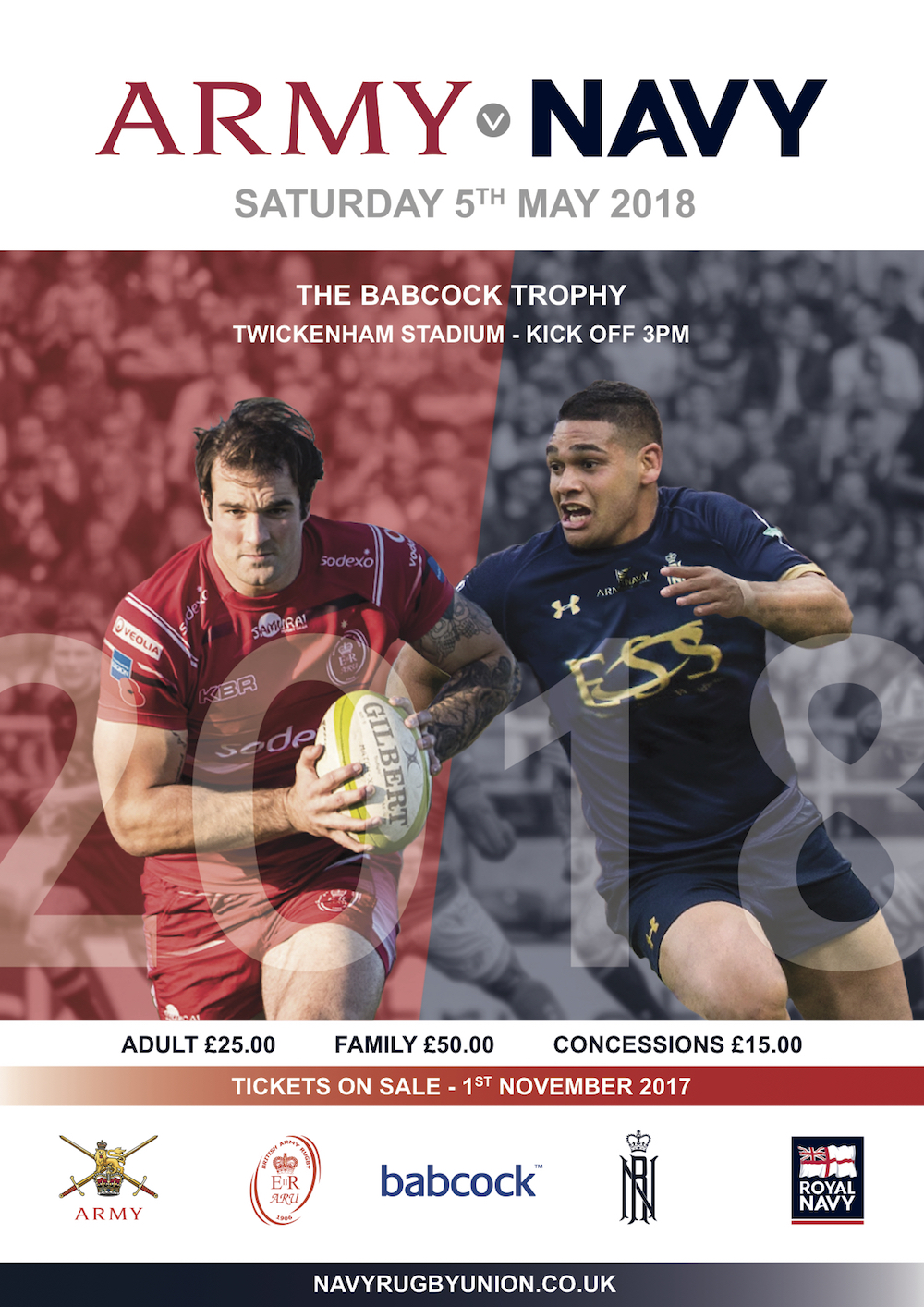 Army v Navy 2018 Poster : Royal Navy Rugby Union ...